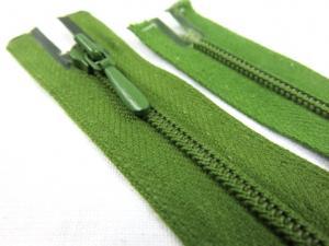 D105 Blixtlås 50 cm Opti 4 mm spiral ej delbar olivgrön
