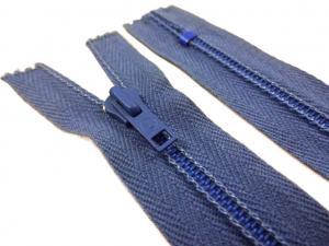 D106 Blixtlås 22 cm 4 mm spiral ej delbar blå