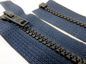 D128 Blixtlås 55 cm delrin delbar 6 mm mörkblå