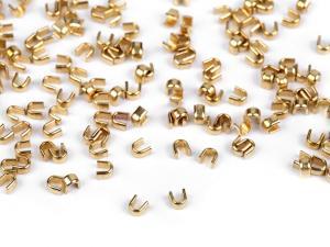 D150 Blixtlås Toppstopp 3 mm guld