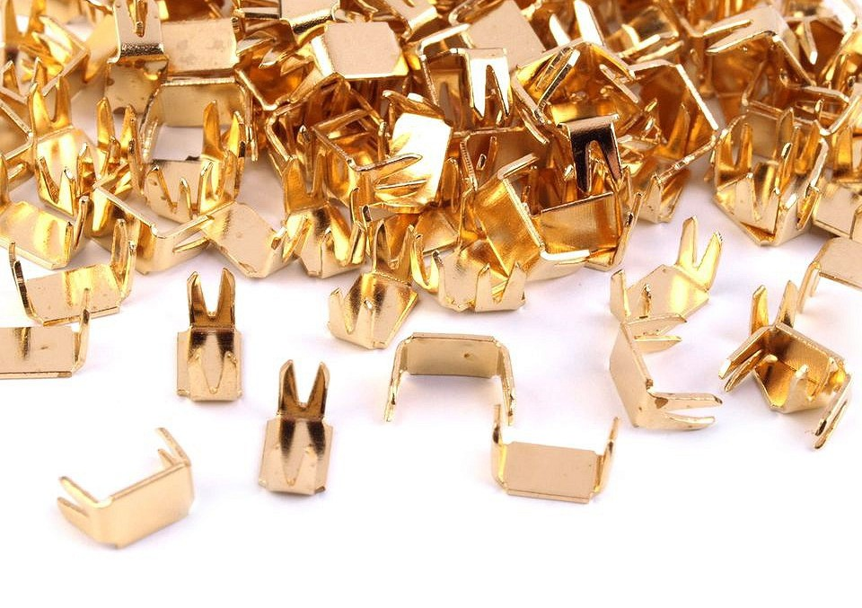 D151 Blixtlås Bottenstopp 5 mm guld