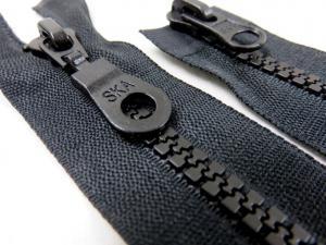 D200 Blixtlås 60 cm delrin 5 mm tvåväg svart