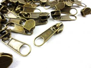 D201 Zipper Slider for Continuous Zipper D201 antique gold