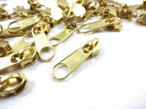 D201 Zipper Slider for Continuous Zipper D201 gold