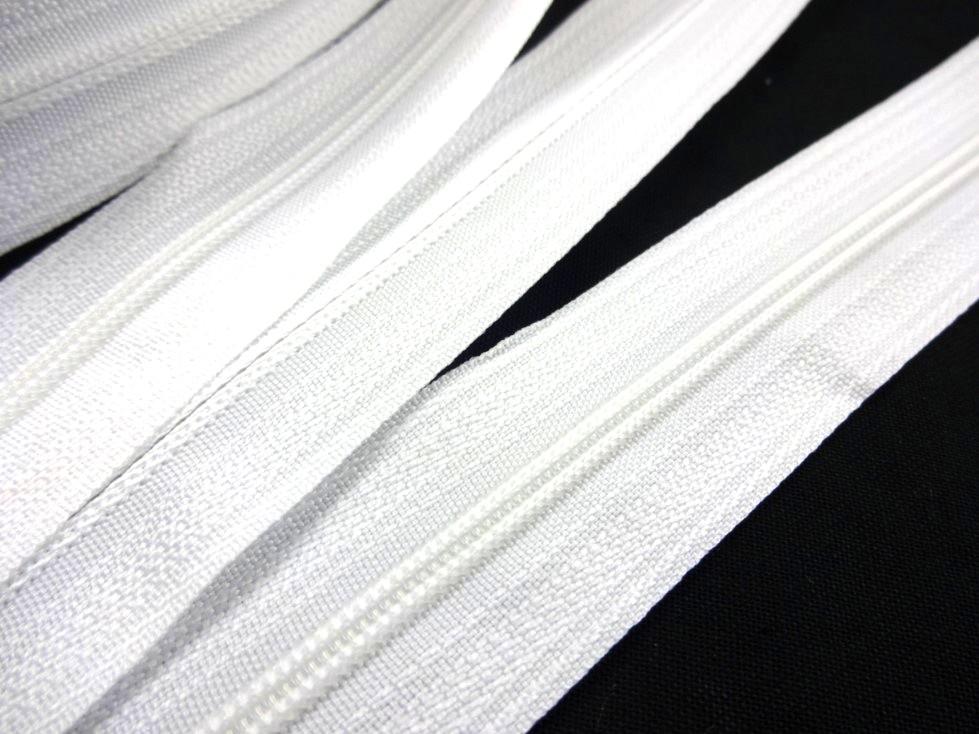 D201 Blixtlås metervara 3 mm vit