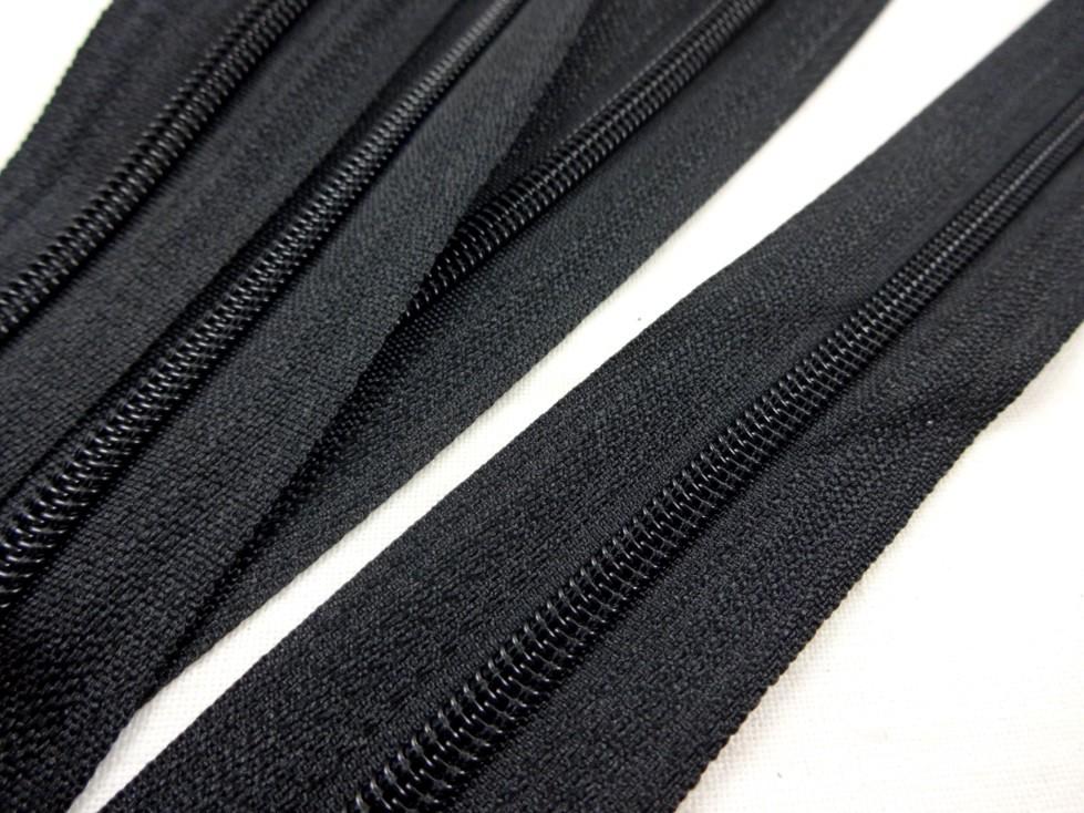 D201 Blixtlås metervara 3 mm svart