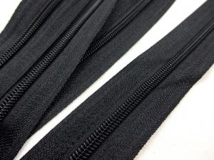 D201 Continuous Coil Zipper Tape 3 mm black
