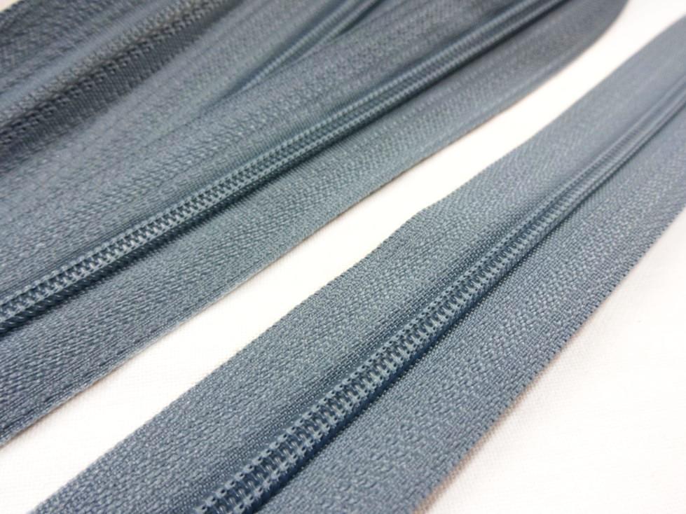 D201 Blixtlås metervara 3 mm grå
