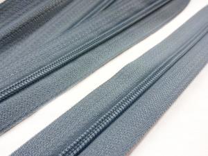 D201 Blixtlås metervara 3 mm grå**