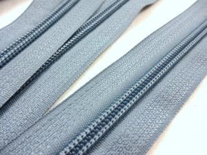 D202 Blixtlås metervara 5 mm grå