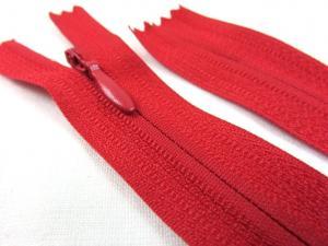 D206 Osynlig blixtlås 20 cm röd
