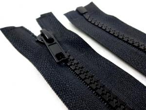 D301 Plastic Zipper 65 cm One-way Separating black
