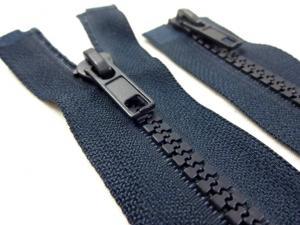 D302 Plastic Zipper 100 cm Two-way separating dark blue