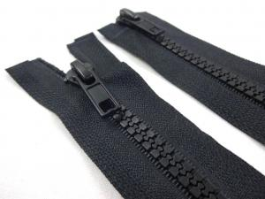 D363 Plastic Zipper 75 cm Two-way separating black