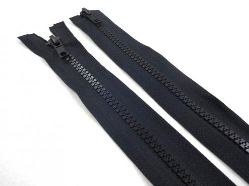 D363 Plastic Zipper 75 cm Two-way separating black