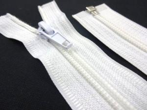 D303 Coil Zipper 45 cm One-way Separating white