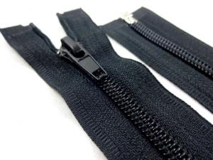 D303 Coil Zipper 70 cm One-way Separating black