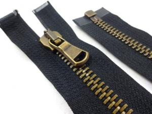 D305 Metal Zipper 80 cm One-way separating black