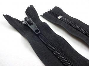 D358 Coil Zipper 16 cm Closed End black