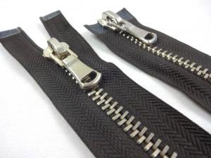D362 Metal Zipper 85 cm Two-way separating brown