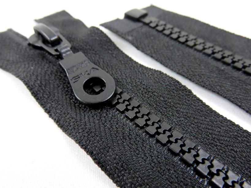 D400 Blixtlås 45 cm delrin delbar 5 mm svart