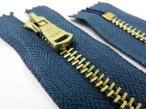 D500 Metallblixtlås 10 cm blå