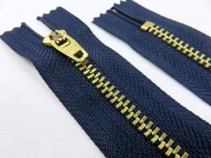 D502 Metallblixtlås 20 cm mörkblå