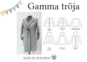 Gamma Dam cardigan och hood - Made by Mi**