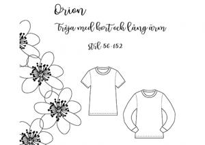 Orion tröja med kort och lång ärm - Pysselnabon