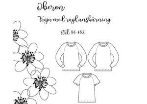 Oberon tröja med raglanskärning - Pysselnabon
