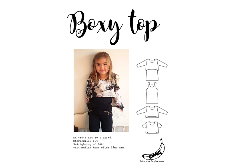 Boxy top - OMG Bananas