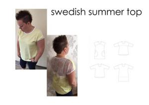 Swedish Summer Top - Sewingheartdesign