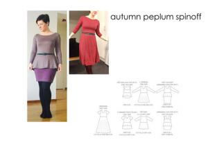 Autumn Peplum Spinoff - Sewingheartdesign