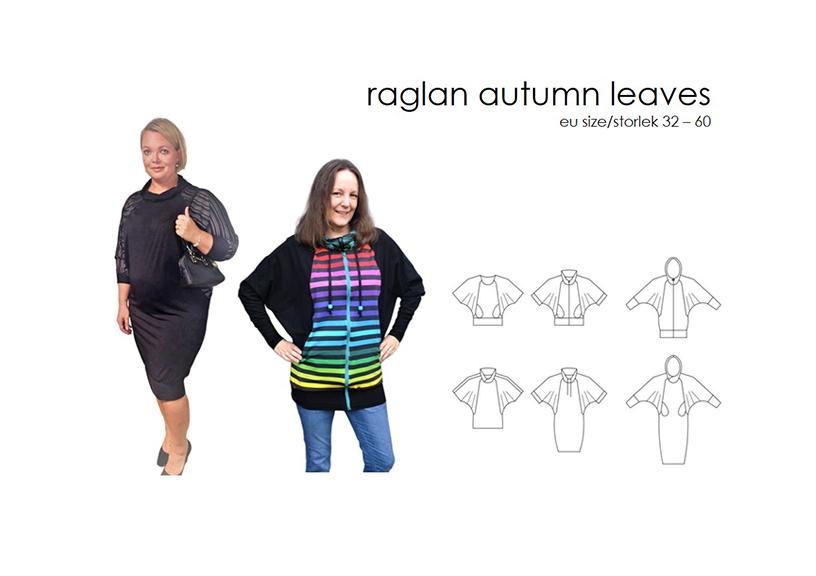 Raglan Autumn Leaves - Sewingheartdesign