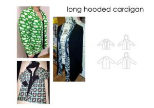Long Hooded Cardigan - Sewingheartdesign
