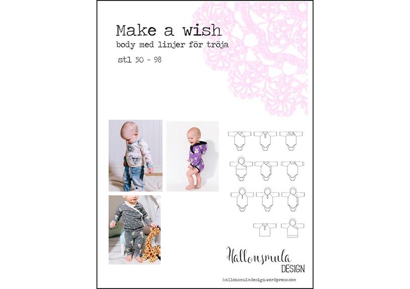 Make a Wish body & tröja - Hallonsmula