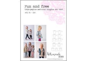 Fun and Free tröja och väst - Hallonsmula