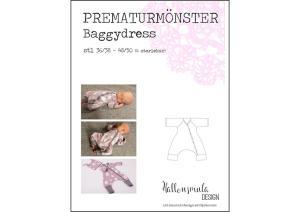 Prematur Baggydress - Hallonsmula