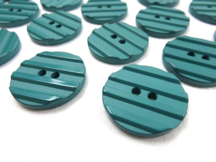 K001 Knapp 25 mm grön med ränder