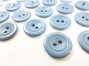 K002 Knapp 15 mm blå