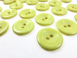 K002 Plastic Button 18 mm yellow