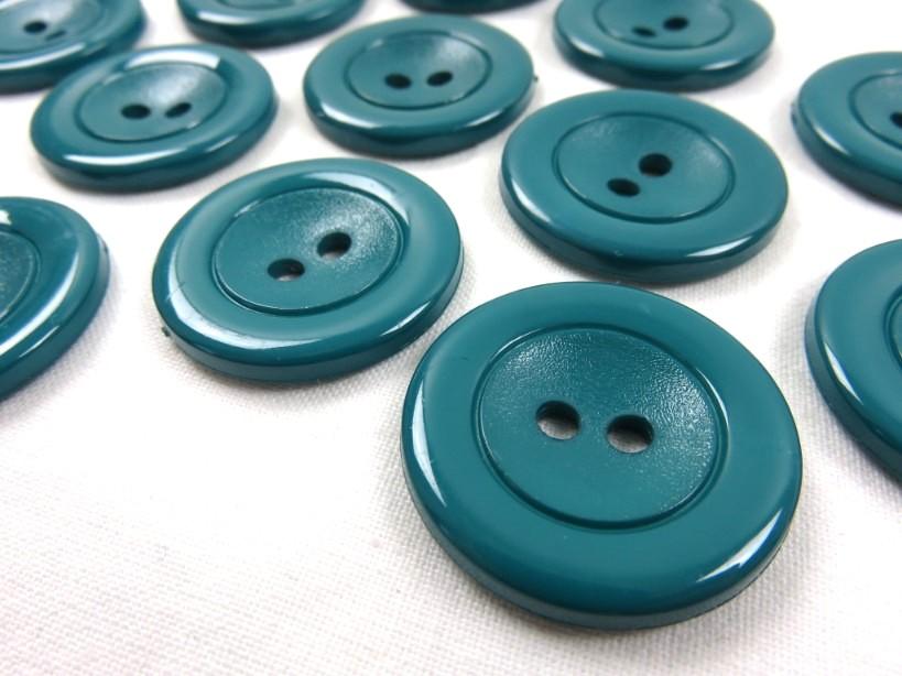 K002 Knapp 30 mm mörk blågrön