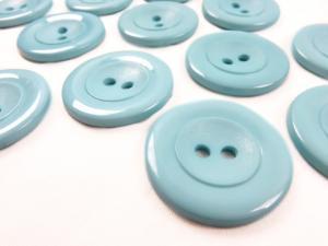 K002 Knapp 34 mm blå