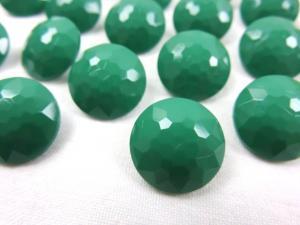 K006 Knapp 15 mm diamant grön