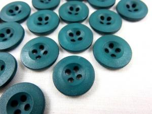 K008 Knapp 15 mm grönblå