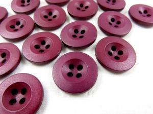 K008 Knapp 18 mm vinröd