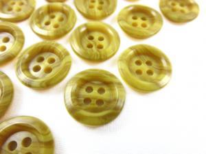 K009 Knapp 15 mm gulmarmorerad