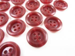 K009 Knapp 15 mm rödmarmorerad