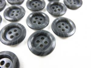 K009 Knapp 15 mm gråmarmorerad