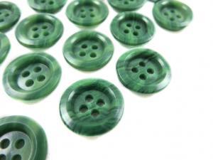 K009 Knapp 15 mm grönmarmorerad